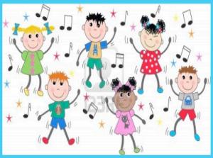 niños y notas musicales